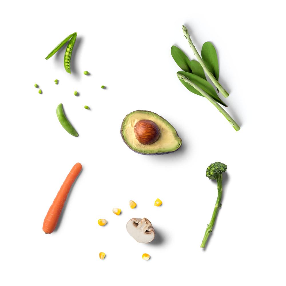 Tiefkühl Gemüse Avocado Mais Karotte