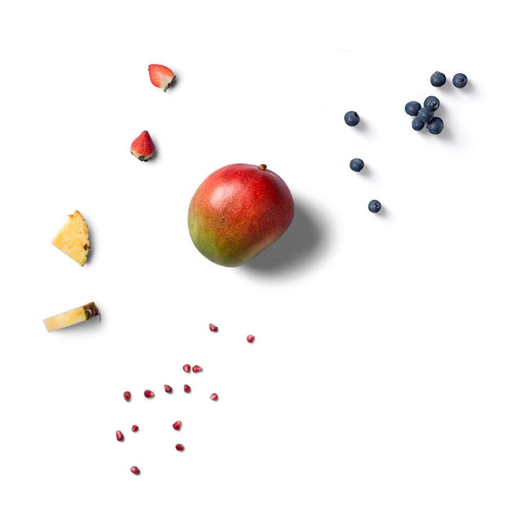 Tiefkühl Obst Mango Blaubeeren Ananas Erdbeeren Grapefruit